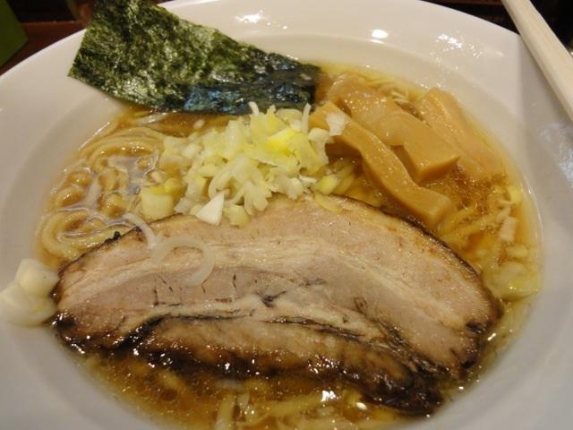 七麺鳥2013年2月の鶏醤油ラーメン太麺
