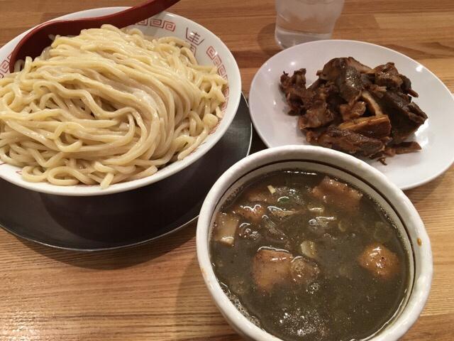 七彩八丁堀店2016年2月つけ麺大盛+切り落としチャーシュー