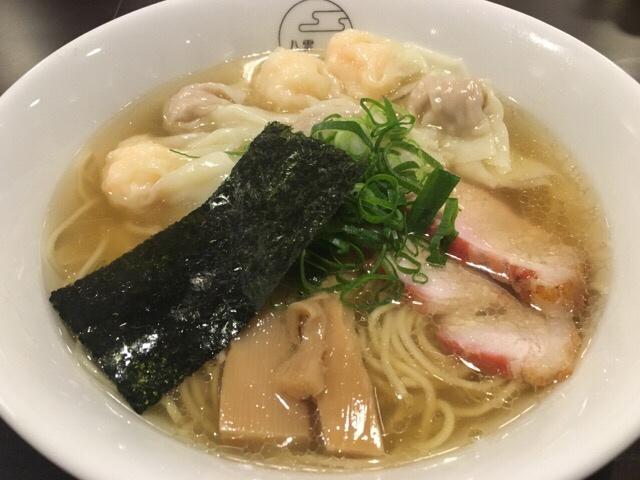 八雲2017年1月の白だし特製ワンタン麺