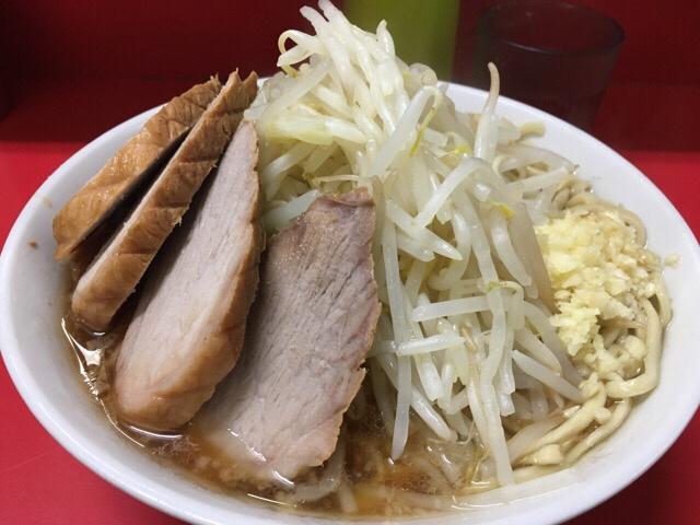 二郎上野毛店2017年2月の小ぶた入りニンニクヤサイ